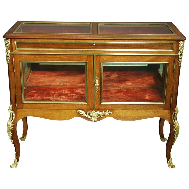 Late 19th Century French Display Case