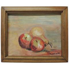 Small Framed Still Life Painting of Fruits