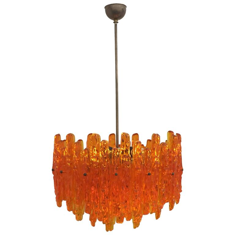 Orange acrylic icicle chandelier in the manner of kalmar at 1stdibs orange acrylic icicle chandelier in the manner of kalmar for sale aloadofball Gallery