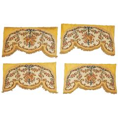 Set of Four French Louis XVI Savonnerie Vestibule Needlepoint Panels
