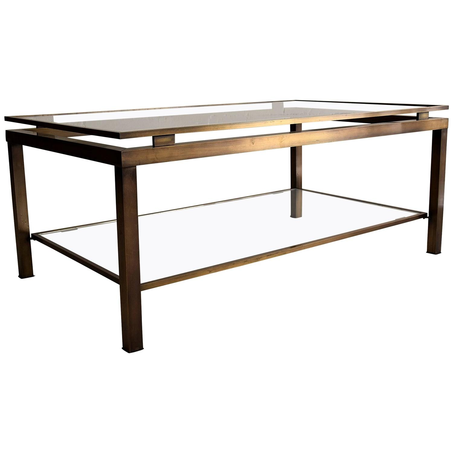 1970s Brass Coffee Table By Guy Lefevre For Maison Jansen At 1stdibs