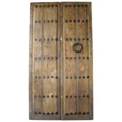 Pair of Antique Spanish Entrance Doors