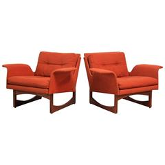 Pair of Midcentury Floating Armchairs