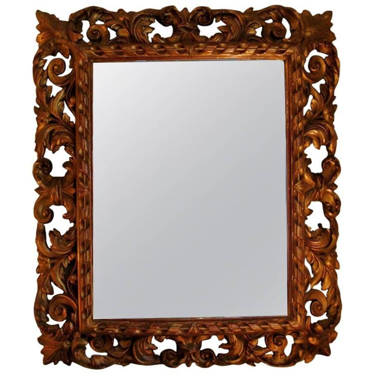 Carved Gilt Mirror, Napoleon III For Sale