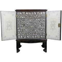 Regency Penwork Dwarf Cabinet on Stand