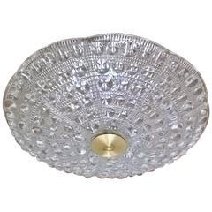Orrefors Carl Fagerlund Swedish Glass Flush Light