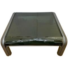 Aulenti Knoll Glass Coffee Table