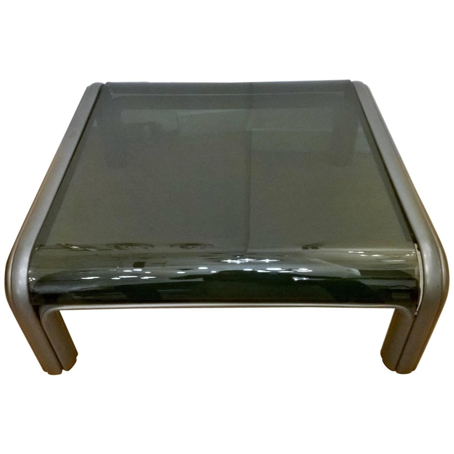 Aulenti Knoll Glass Coffee Table At 1stdibs