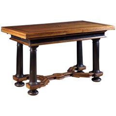 17th Century Inlaid Dutch Draw-Leaf Table