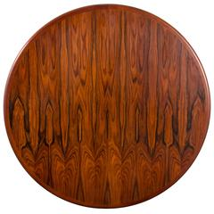 Danish Modern Rosewood Dining Table with Leaves by Gudme Mobelfabrik
