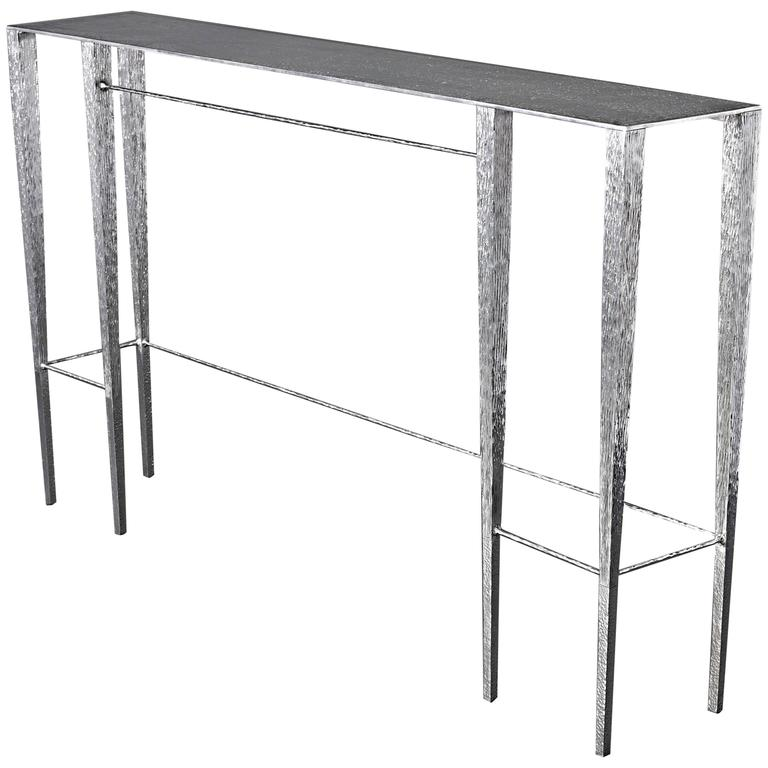 """One of a Kind """"Singha"""" Aluminum Console by Aurelien Gallet"""