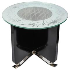 Very Rare Art Deco Illuminating Coffee Table