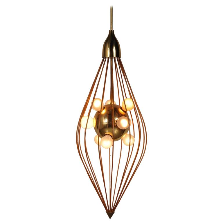 Ceiling Lamp in the Style of Angelo Lelli, Arredoluce, circa 1950 For Sale