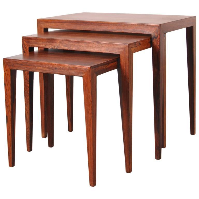 Nesting Tables by Severin Hansen for Haslev Mobelsnedkeri Denmark, circa 1960