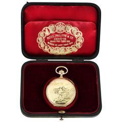 Unique Patek Philippe 18-Carat Gold Pocket Watch