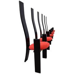 Golem Dining Chairs by Vico Magistretti
