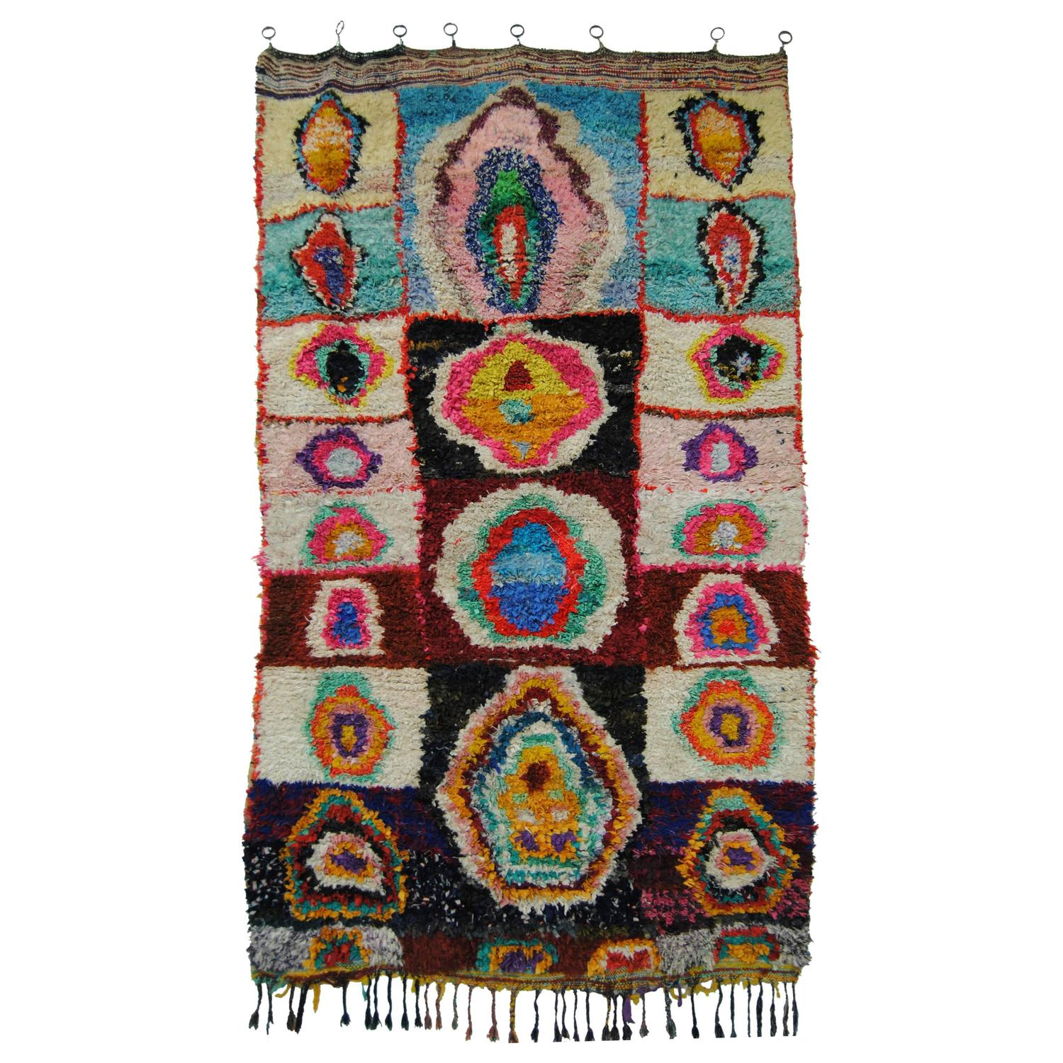 Moroccan Boucherouite Rug For Sale At 1stdibs