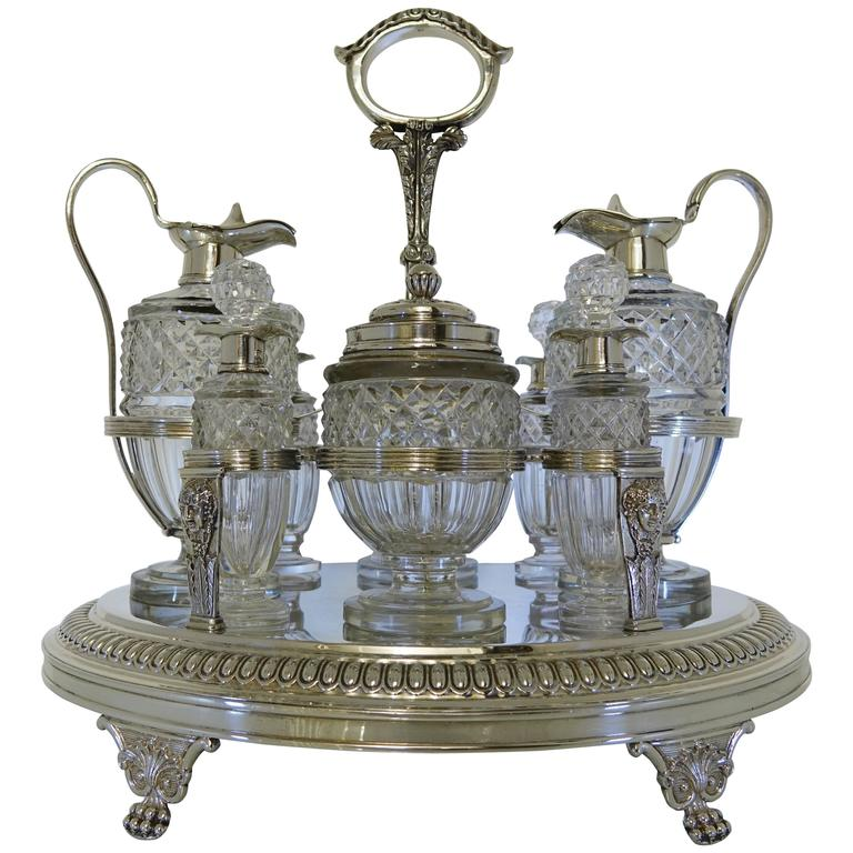 Sterling Silver George III 19th Century Cruet, London, 1808, Burwash & Sibley
