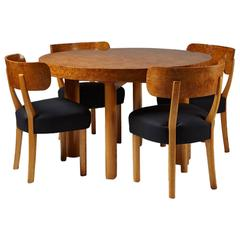 "Set of Dining Table and Six Chairs ""Birka"" Designed by Axel-Einar Hjorth, Sweden"