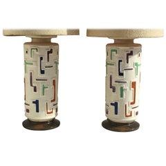 Pair of Giant Ceramic Lamp