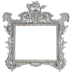 Baroque Period Hand Carved Frame of Extraordinary Scale, France circa 1750