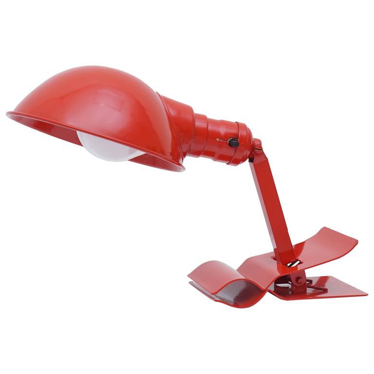 vintage adjustable clip on reading lamp for sale at 1stdibs. Black Bedroom Furniture Sets. Home Design Ideas