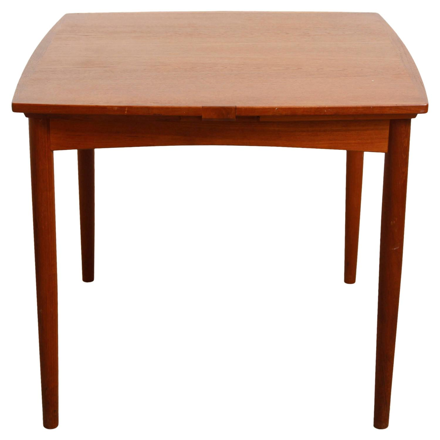 Poul Hundevad Convertible Teak Game Or Dining Table At 1stdibs