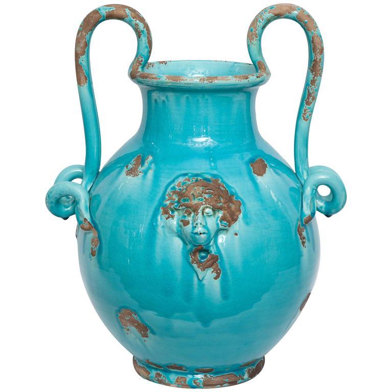 1940s italian art moderne ceramic vase signed art italica. Black Bedroom Furniture Sets. Home Design Ideas