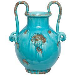 1940s Italian Art Moderne Ceramic Vase Signed Art Italica, Italy