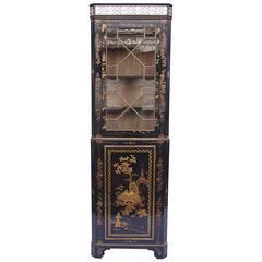 Chinese Lacquer Corner Cupboard Vitrine, circa 1900