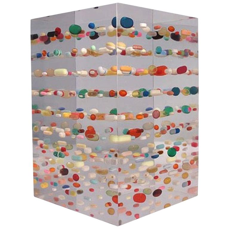"""Ray Geary's """"175 Pills"""" Sculpture in Resin, 2015"""