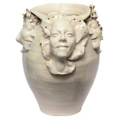 1960s Monumental Sculptural Ceramic Vase