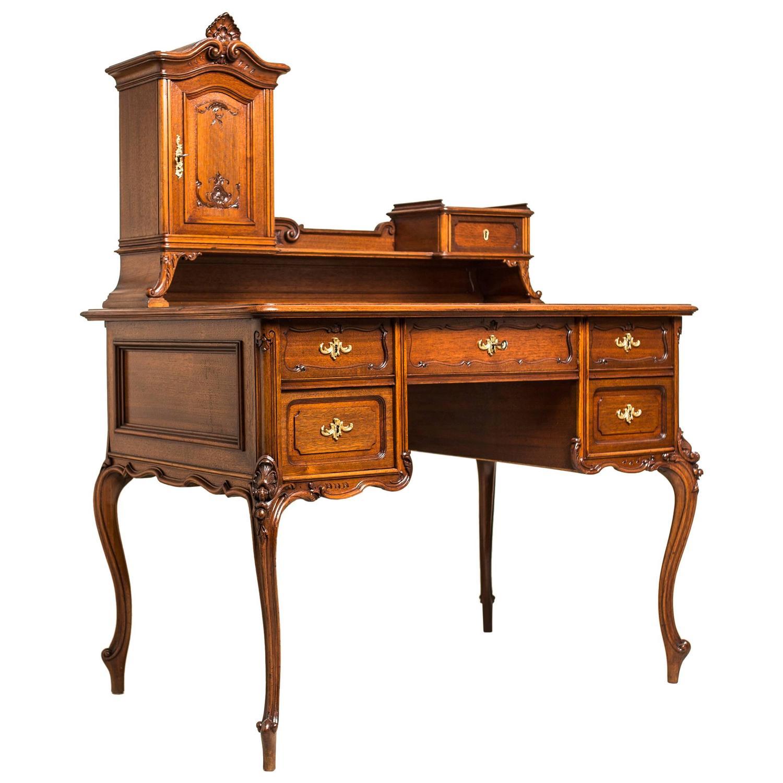 writing desk baroque revival oak wood austria circa for sale at 1stdibs
