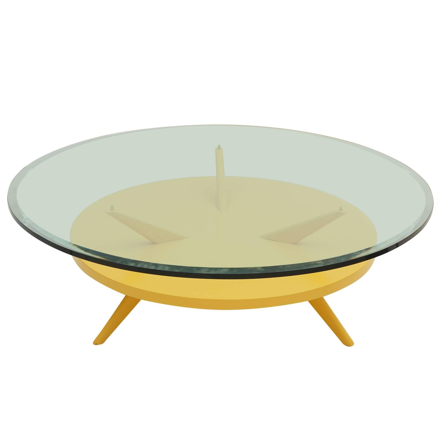 Vintage Lemon Drop Yellow Coffee Table For Sale at 1stdibs
