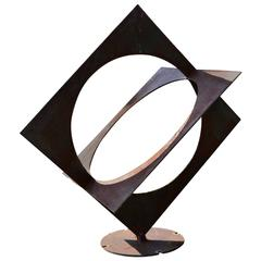Abstract Assembled Steel Sculpture by Simi Dabah
