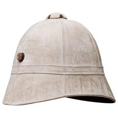 Rare 19th century Pith or Tropical Officers Helmet