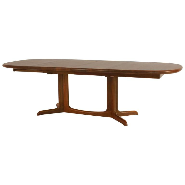 Magnificent Mid Century Modern Dining Table By Glostrup Denmark For