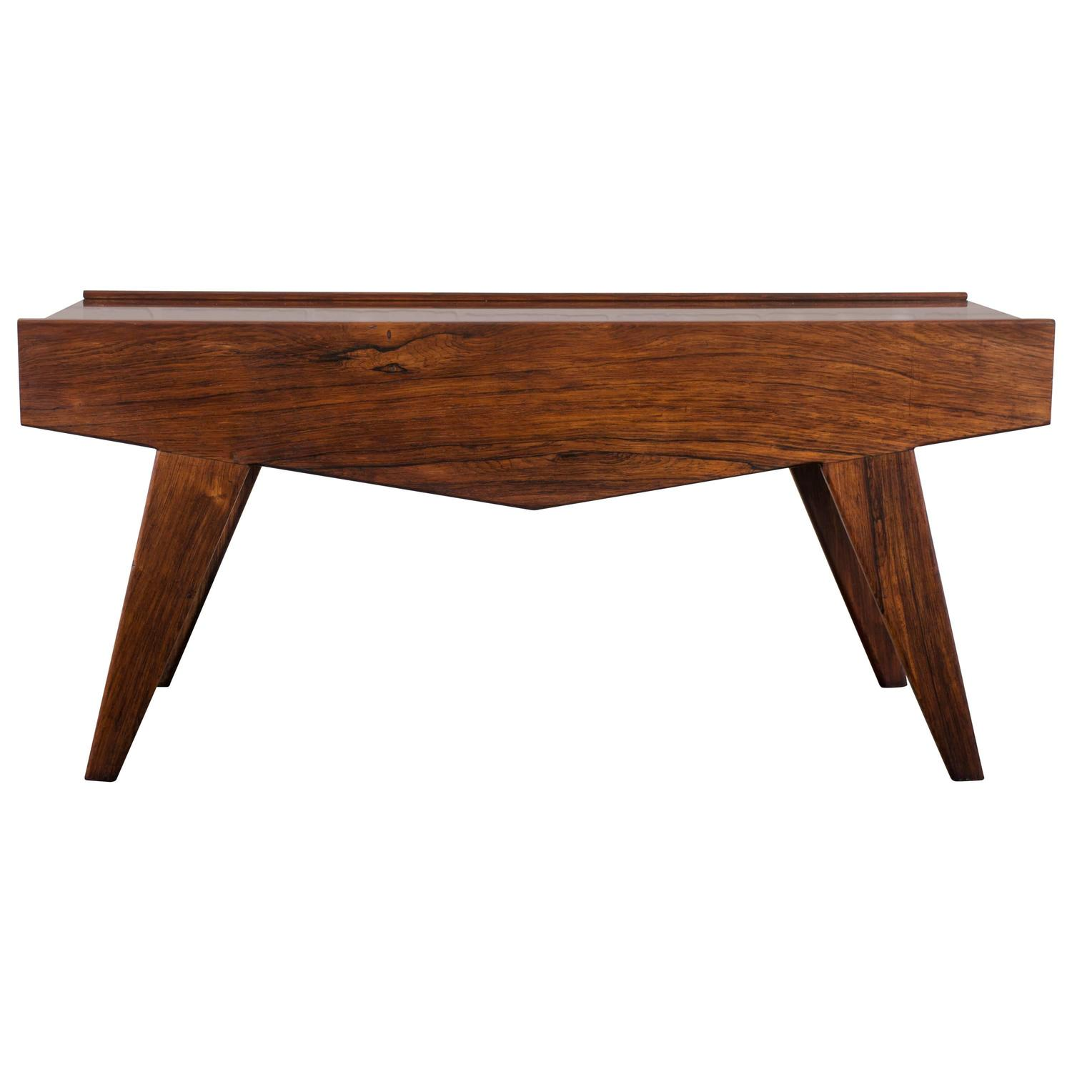 Vintage Brazilian Rosewood Coffee Table At 1stdibs