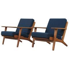 Hans Wegner GE290 Armchairs