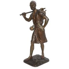19th Century Orientalist Bronze Figure Signed Debut