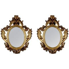 Pair of Italian Giltwood Mirrors, circa 1790