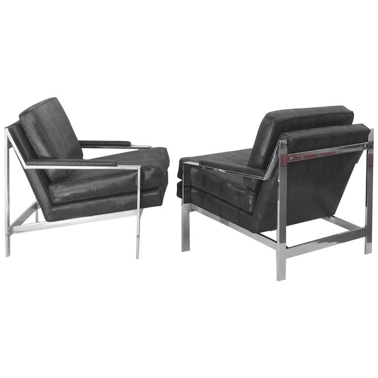 Sexy Pair of Lounge Chairs Designed by Cy Mann