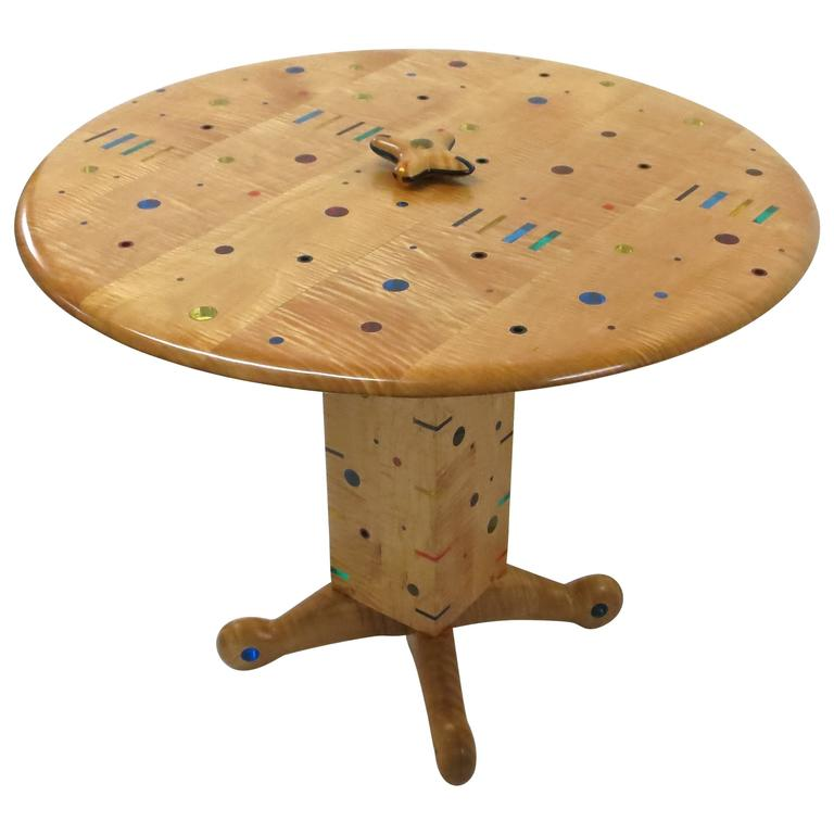 Unique, Single Commission Dining or Center Table By Daniel Peters 1999 For Sale