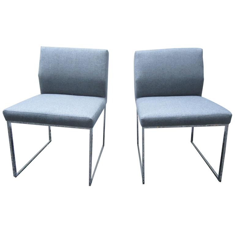 Pair of Brueton Pull-Up Zag Chairs