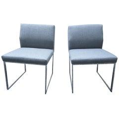 Pair of Brueton Pull-Up Zag Chairs