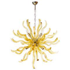 Italian Mid-Century Sputnik with Gold Cased Murano Glass