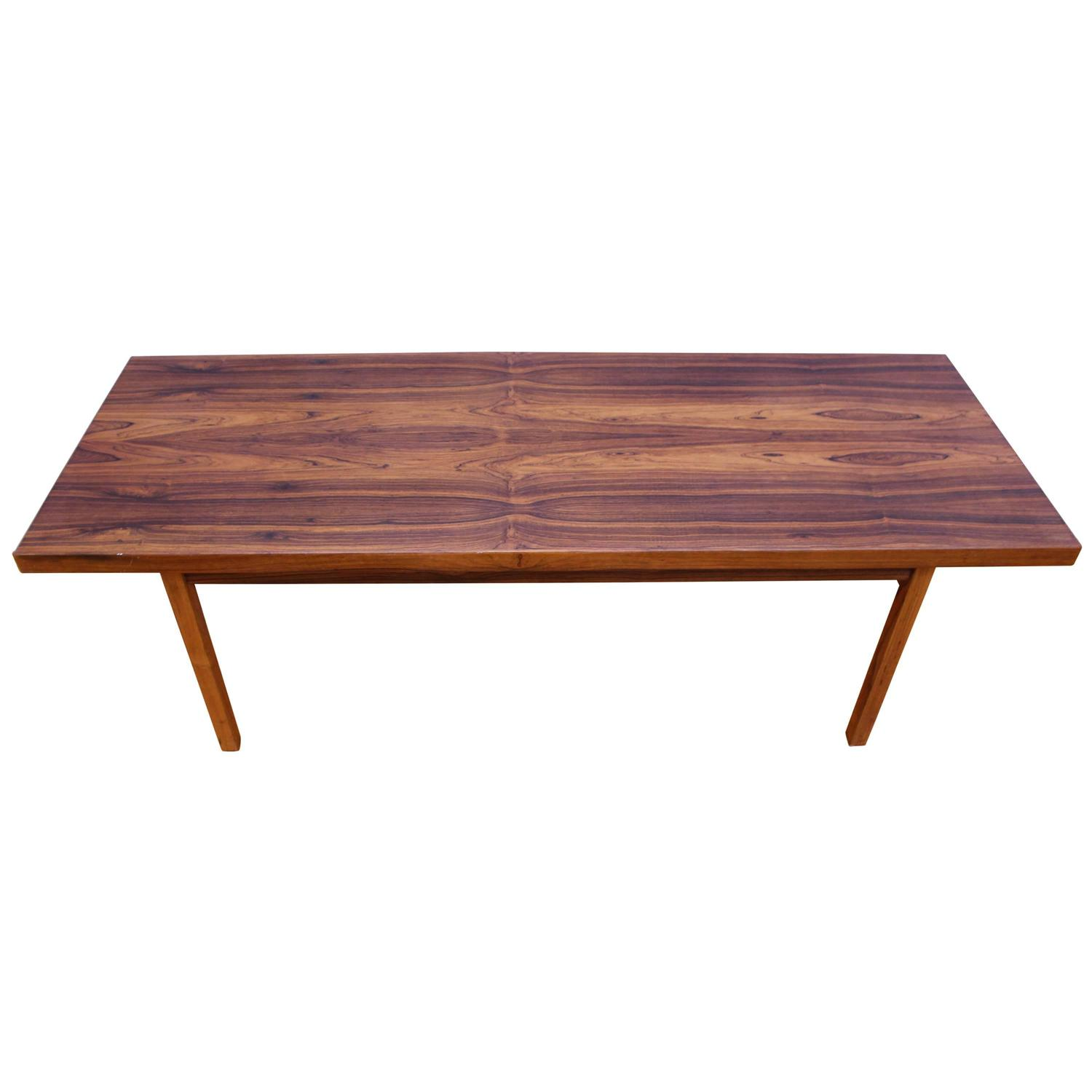 Danish mid century modern rosewood coffee table for sale for Mid century modern coffee table