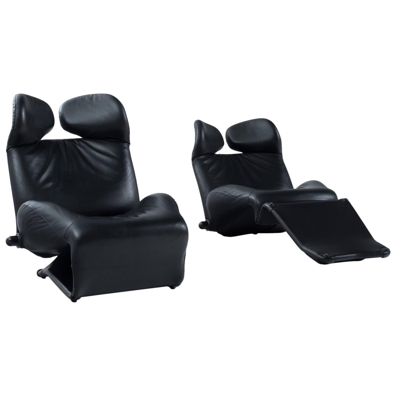 Toshiyuki Kita U0027Winku0027 Lounge Chairs For Cassina For Sale At 1stdibs