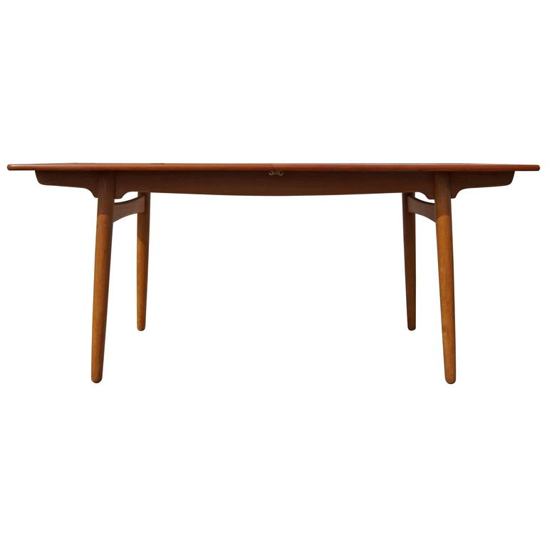 Teak and Oak Dining Table by Hans Wegner for Andreas Tuck