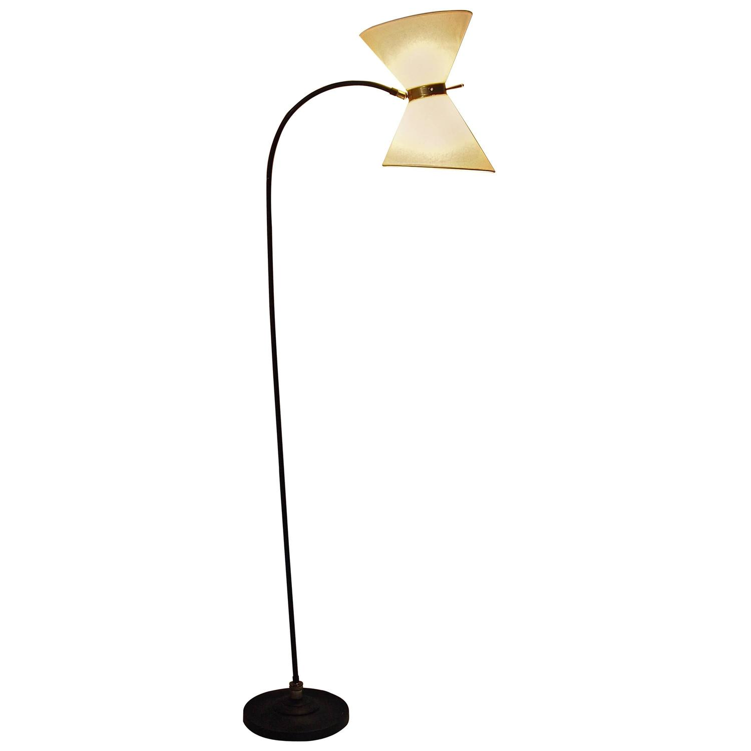 Ball mounted 1950s monix edition floor lamp at 1stdibs for 1950 floor lamp
